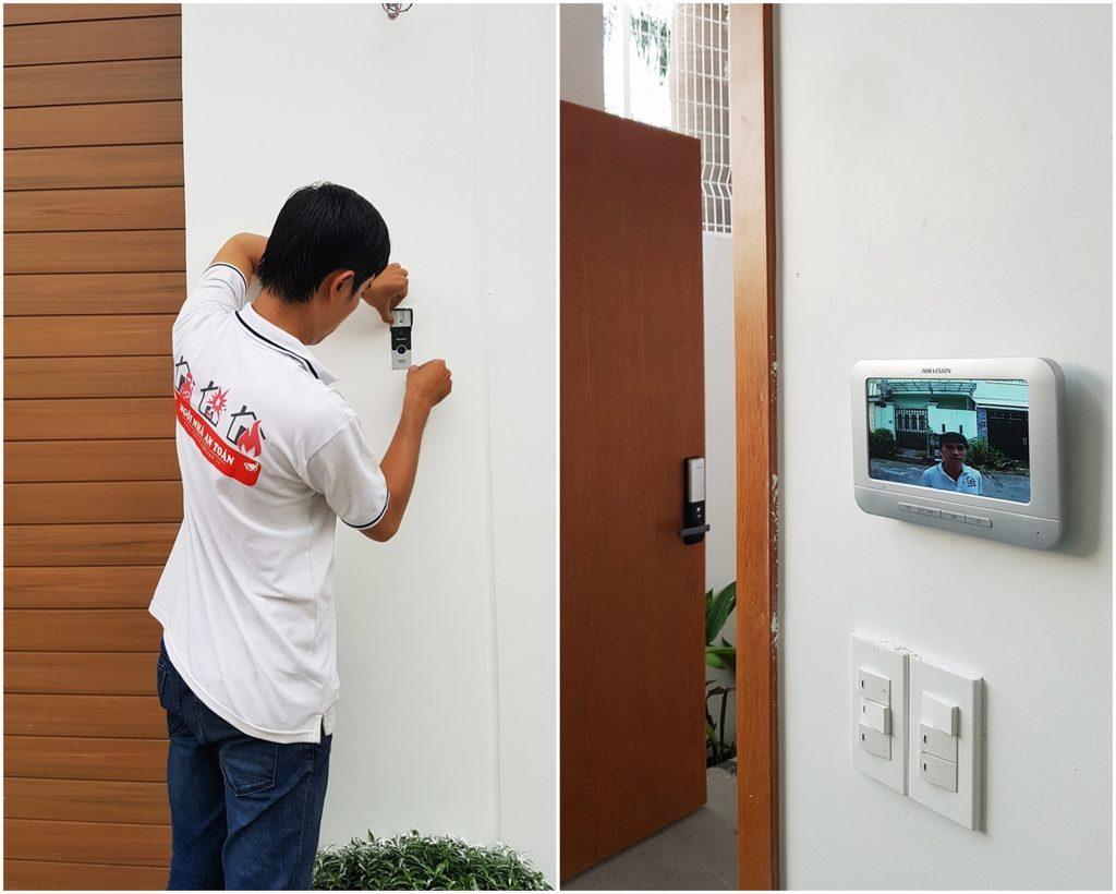 lắp đặtcamera chuông cửa hikvision